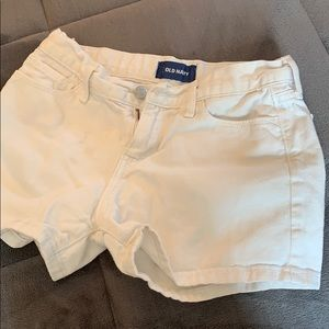 Old navy white denim shorts.